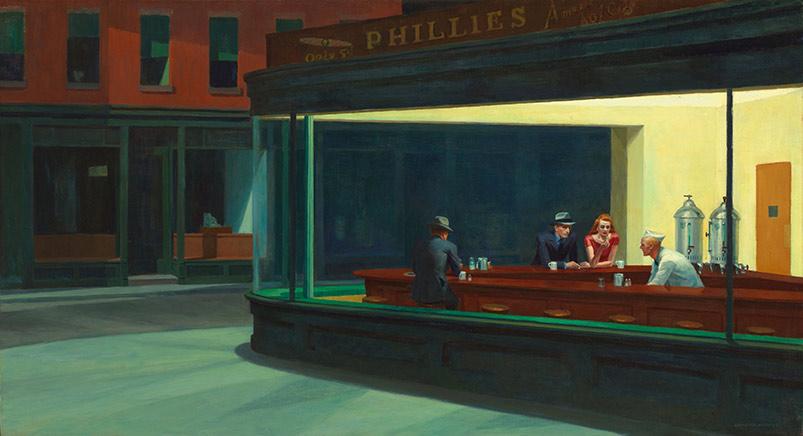 Nighthawks av Hopper